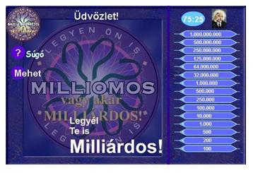 milliárdos - kviz játék